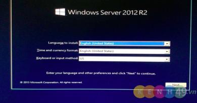 Cài đặt windows server 2012