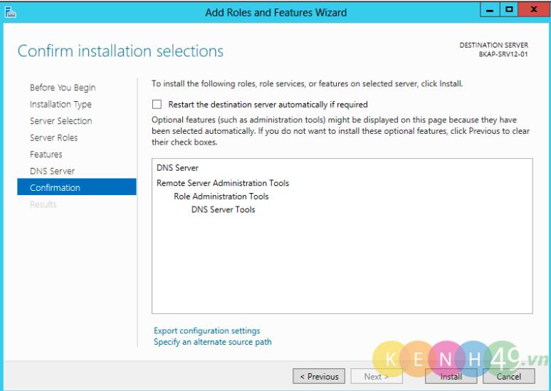 Cài đặt và cấu hình DNS Server trên Windows Server 2012