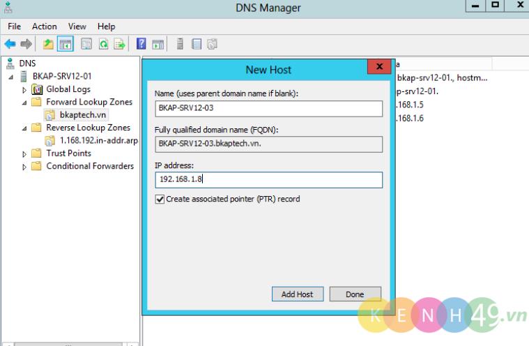 Cài đặt và cấu hình DNS Server trên Windows Server