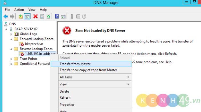 Cấu hình dịch vụ Backup DNS