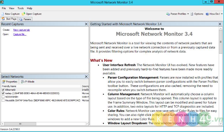 Giám sát lưu lượng mạng trên Server 2012