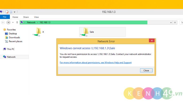Cấu hình và phân quyền chia sẻ dữ liệu trên Windows Server 2012