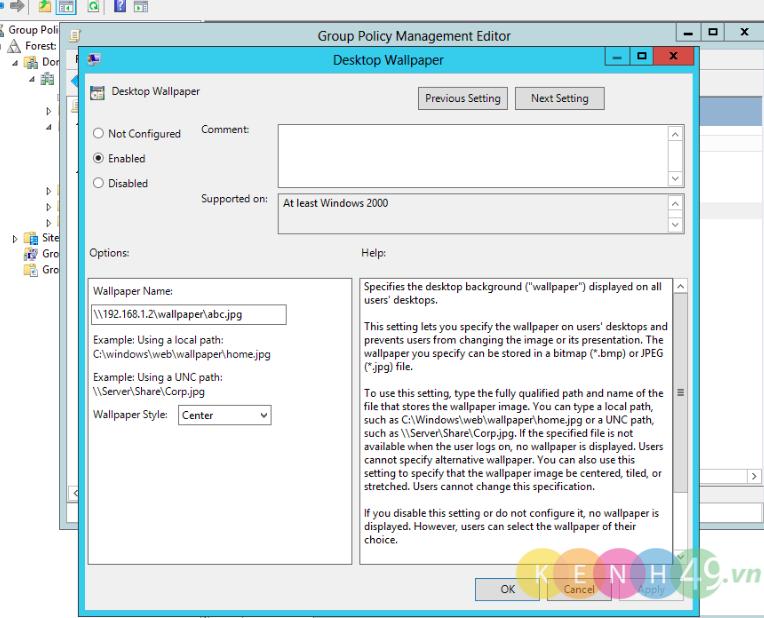 Triển khai chính sách GPO cơ bản trên Windows Server 2012