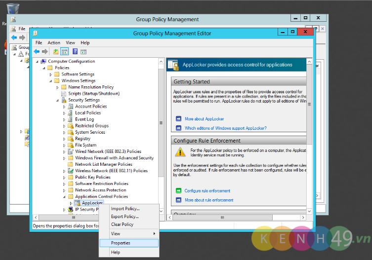 Triển khai chính sách (GPO) giới hạn sử dụng phần mềm