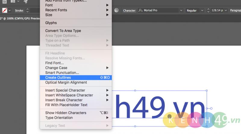 Embeb hình ảnh và font chữ trên Adobe Illustrator
