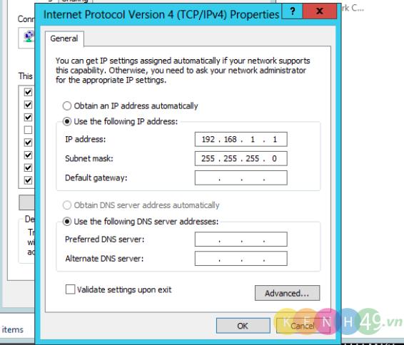 IP address của card VMnet 2: