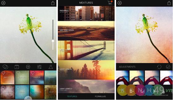 Mextures phần mềm chỉnh sửa ảnh tốt nhất trên IPhone