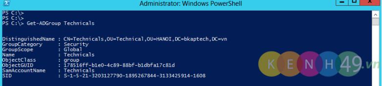 Sử dụng PowerShell trên Windows Server 2012