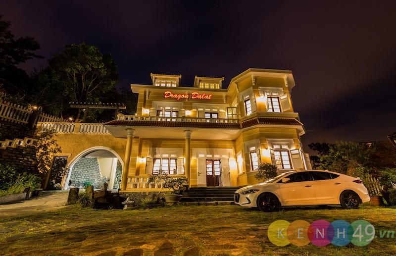 Dragon Dalat Villa về đêm