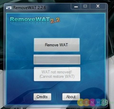 Activate Win 7 bằng Remove WAT