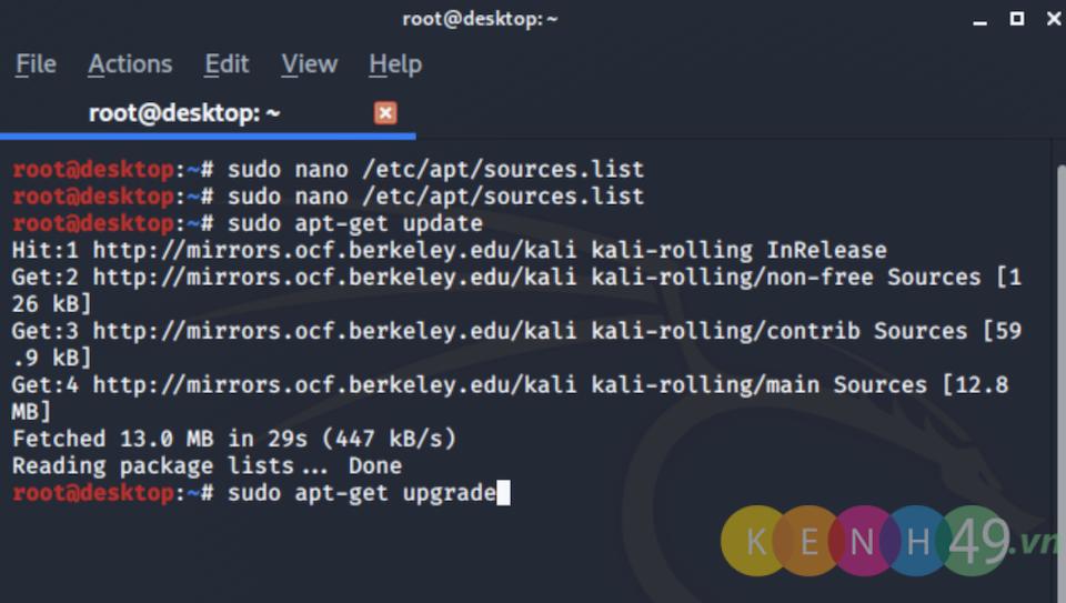 Cài đặt Kali Linux