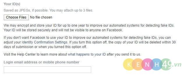 Lấy lại facebook bị hack bằng cmnd