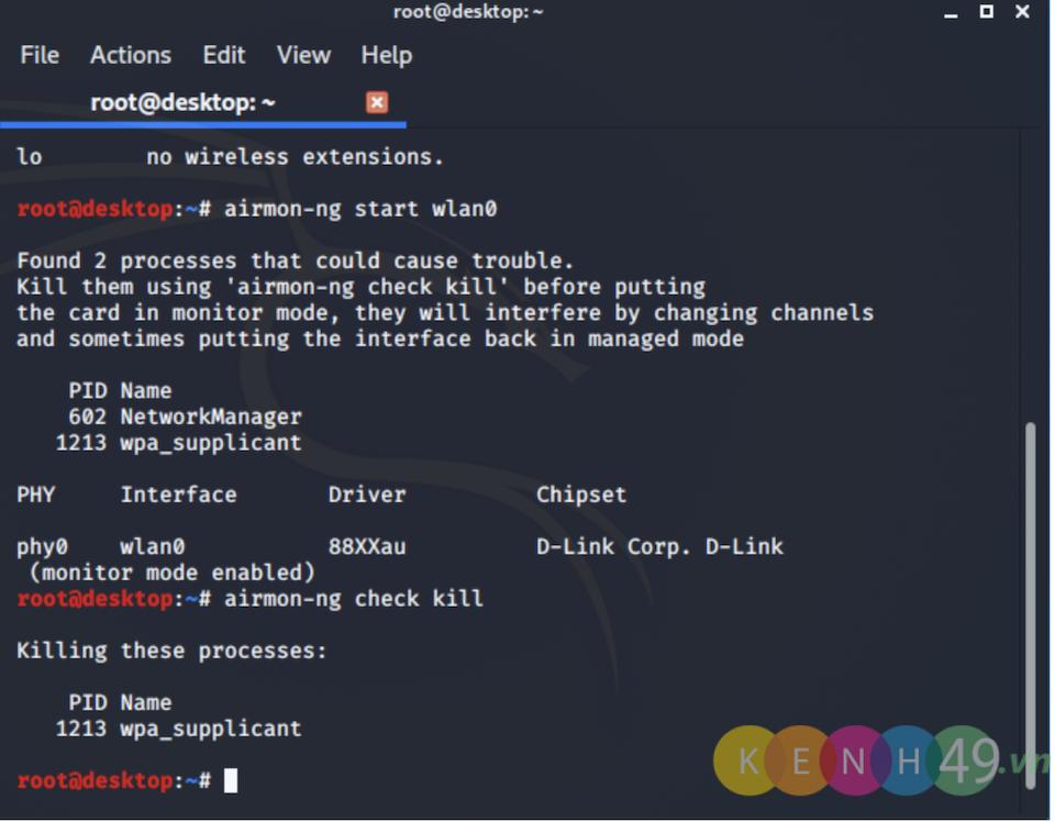 Hack wifi bằng Kali Linux