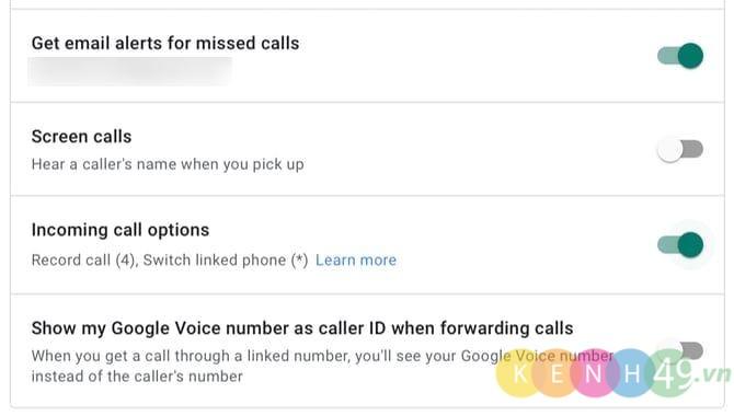 Bật google voice