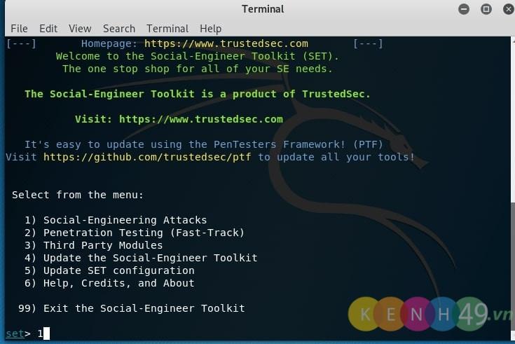 Cách hack facebook với Kali Linux