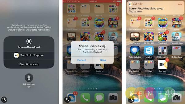 TechSmith Capture - Ứng dụng quay màn hình IPhone
