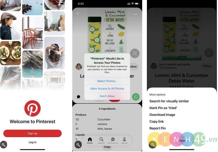 Cách tải ảnh từ Pinterest trên Iphone